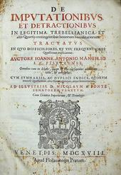 Mangilio. De Imputationibus et Detractionibus in Legiti