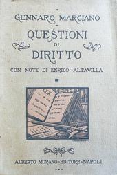 Questioni di diritto con note di Enrico Altavilla.