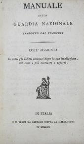 Manuale della Guardia Nazionale tradotto dal francese.