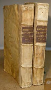 Brisson. Uno dei principali dizionari giuridici del 500