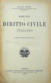 Manuale di Diritto Civile Italiano. 6a ed. stereotipa.