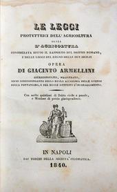 Armellini G. Le leggi protettrici dell'Agricoltura.