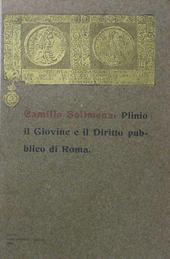 Plinio il Giovine e il Diritto Pubblico di Roma.