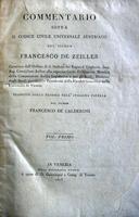 Zeiller.Commentario sul Cod. Civile Univers. Austriaco.