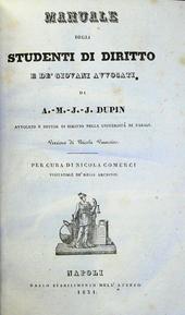 Manuale degli Studenti di Diritto e Giovani Avvocati.