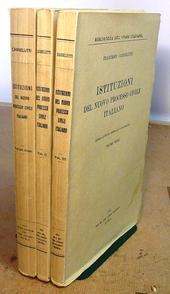 Istituzioni del processo civile italiano. 4° ed. emenda