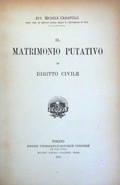 Il Matrimonio Putativo in Diritto Civile.