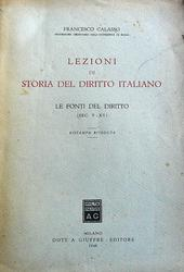Lezioni di storia del diritto italiano.