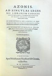 La anastatica del commento al Codice di Azo e Ugolino.