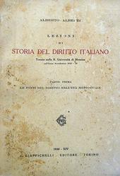 Appunti delle lezioni di Storia del Diritto Italiano.