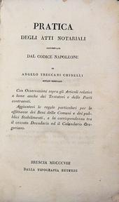 Treccani. Una pratica notarile sul Codice di Napoleone