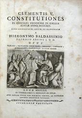 Le Costituzioni di Clemente V in una elegante edizione.