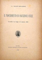 Il procedimento di cognizione civile secondo la legge