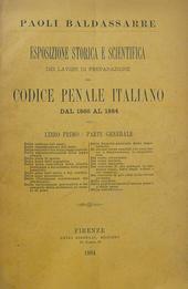 Paoli. Lavori preparatori del Cod. Pen. Ital. 1866-84.