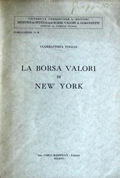 La borsa valori di New York