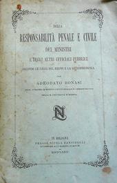 Della responsabilità penale e civile dei ministri