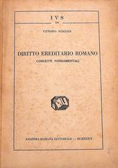 Diritto ereditario romano. Concetti fondamentali.
