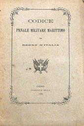 Codice Penale Militare Marittimo del Regno d'Italia.