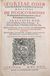 Le principali opere del giurista perugino Oddi Sforza.