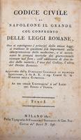 Il Codice Civile di Napoleone in una edizione mignon.