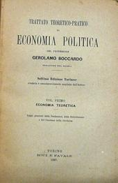 Boccardo. Economia Politica. 7a ed. torinese.