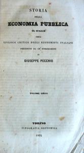 Storia della Economia Pubblica in Italia ossia epilogo