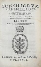 Ploti. Consiliorum sive Responsorum. Liber Primus