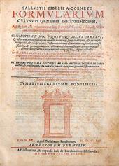 Un celebre Formulario notarile pontificio del primo 600