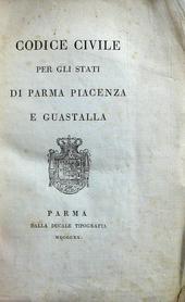 La 1a rara edizione del Codice Civile di Parmense.