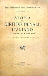 Storia del Dir  Penale It da  Beccaria ai giorni nostri