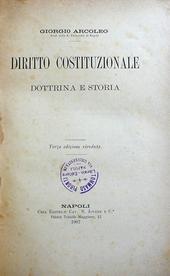 Arcoleo. Diritto Costituzionale. Dottrina e Storia.