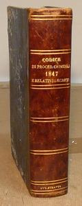 Codice di Procedura Criminale con Indice e decreti.