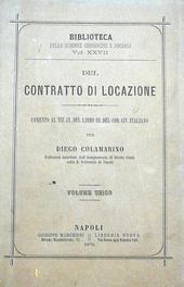 Del Contratto di Locazione.