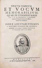 Le Lucubrationes del Carpani in una ed. cinquecentesca.