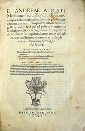 L'Opera Omnia di Andrea Alciati nella ed. Basilea 1546