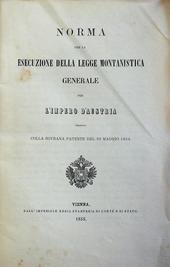 La legge Montanistica (miniere) per l'Impero d'Austria.