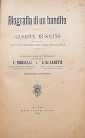 Biografia di un Bandito. Giuseppe Musolino - 1903 -