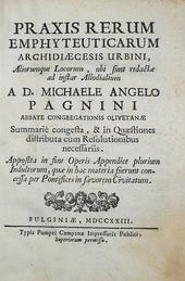 Pagnini. Praxis rerum emhyteutic. Archidiaecesis Urbini