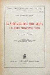 La Nazionalizzazione delle Società e il dir. internaz.