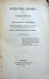 Enciclopedia organica del diritto. Seconda Edizione.