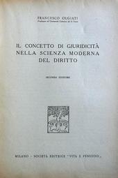 Il concetto di giuridicità nella scienza moderna del di