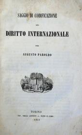 Saggio di Codificazione del Diritto Internazionale.