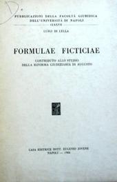 Formulae Ficticiae. Contributo allo studio della riform