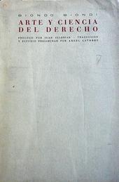 Arte y ciencia del derecho. Prologo par J. Iglesias