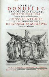 L' attività forense a Milano nel 600; l'opera di Dondeo