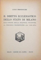 Il diritto ecclesiastico dello Stato di Milano.