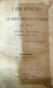 Il sistema municipale inglese e la legge comunale itali