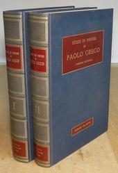 Studi in onore di Paolo Greco