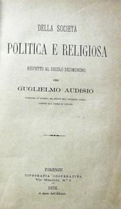 Della società politica e religiosa rispetto al sec. XIX