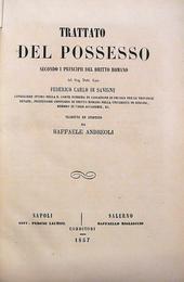Trattato del Possesso.